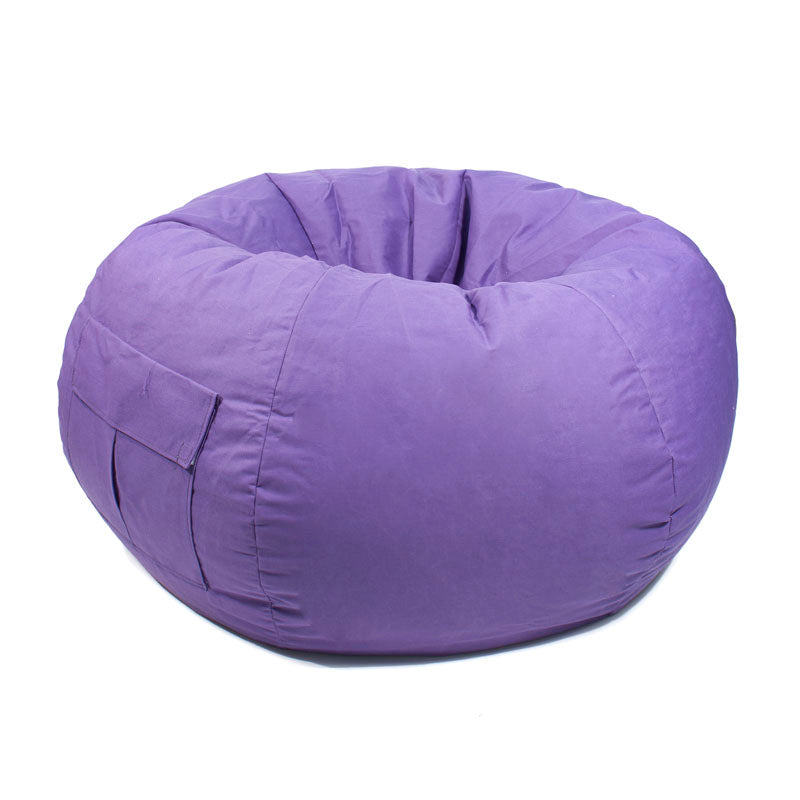 Extra Large Denim Look Bean Bag with Cargo Pocket Purple