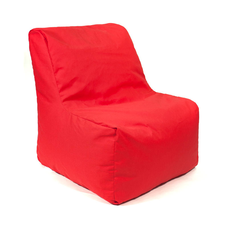 Sectional Denim Look Bean Bag Chair - Red