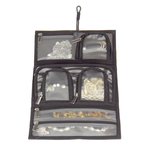 Household Essentials Black Tri Fold Jewelry Organizer - Harvey & Haley  - 1
