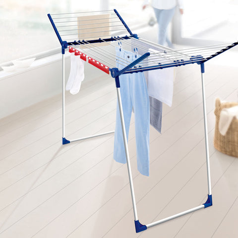 Varioline M Deluxe Winged Clothes Drying Rack With Adjustable Lines - Harvey & Haley  - 1