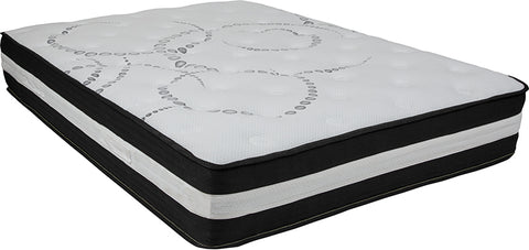 Capri Comfortable Sleep 12 Inch Foam and Pocket Spring Mattress, Full in a Box