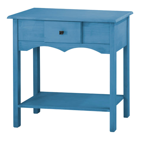 "Jay 31.49"" Tall Sideboard with 1 Full Extension Drawer in Blue Wash"