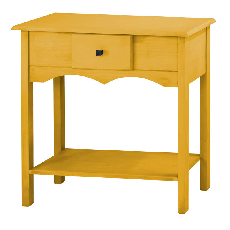 "Jay 31.49"" Tall Sideboard with 1 Full Extension Drawer in Yellow Wash"