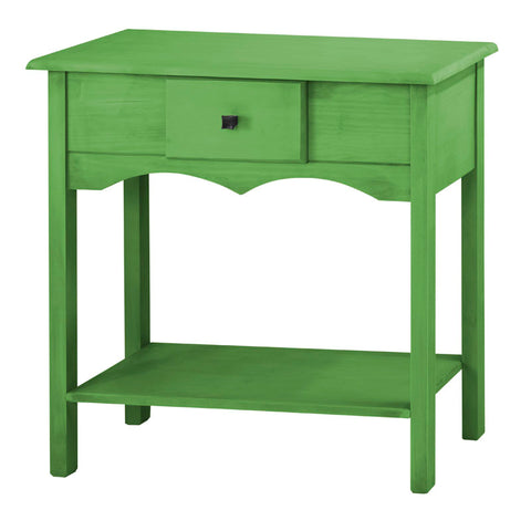 "Jay 31.49"" Tall Sideboard with 1 Full Extension Drawer in Green Wash"