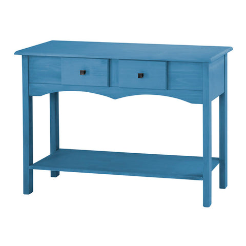 "Jay 49.21"" Sideboard Entryway with 2 Full Extension Drawers in Blue Wash"