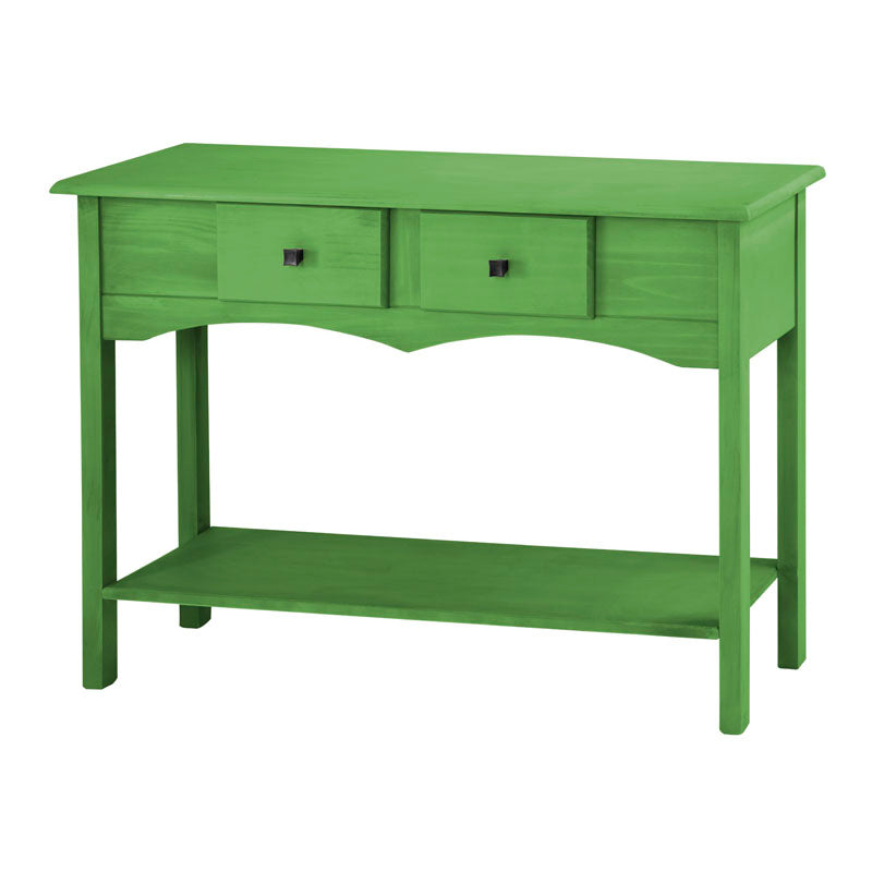 "Jay 49.21"" Sideboard Entryway with 2 Full Extension Drawers in Green Wash"