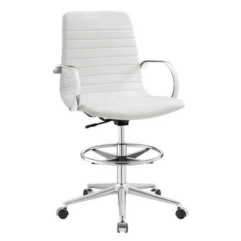 Groove Ribbed Back Drafting Chair
