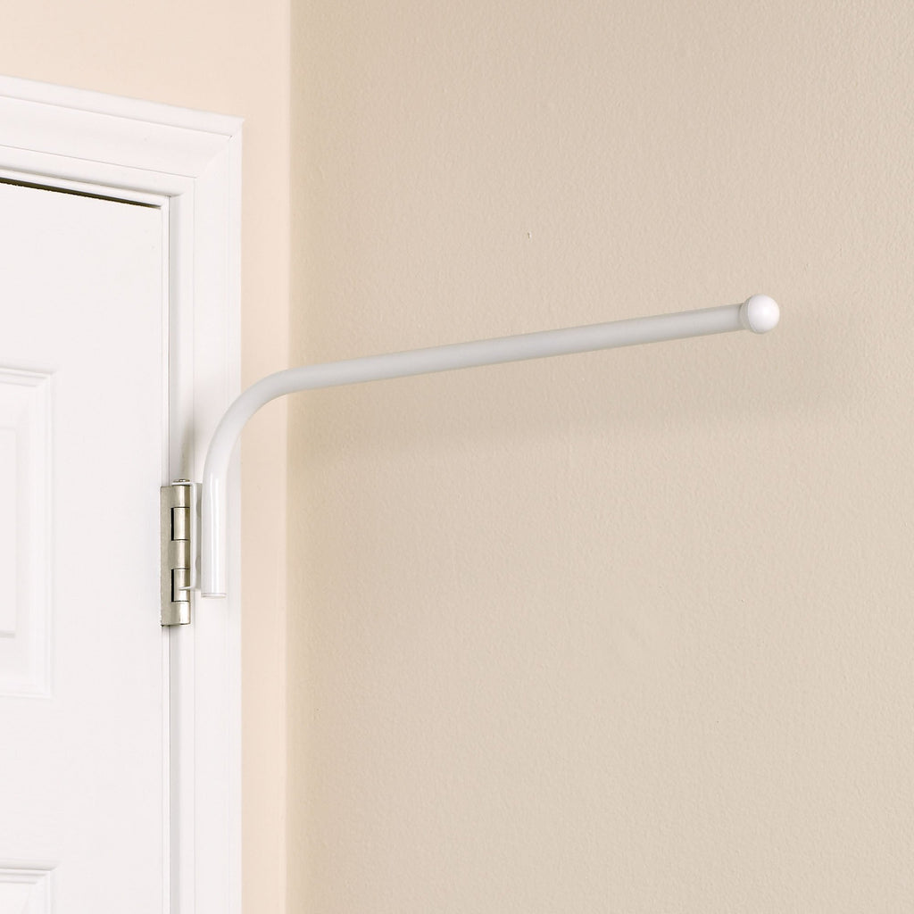 Household Essentials H5101 Hinge-it White Spacemaker Single Bar - Harvey & Haley  - 1