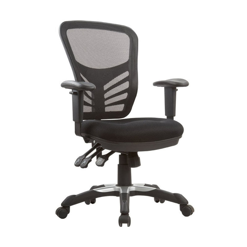 Governor Executive Mesh High-Back Adjustable Office Chair in Black