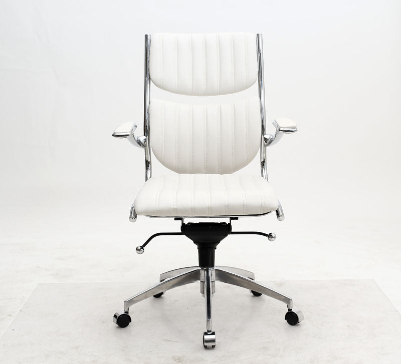 Ergonomic High Back Verdi Office Chair in White
