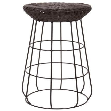 Household Essentials Ml-5012 Resin Wicker Low Stool - Harvey & Haley  - 1