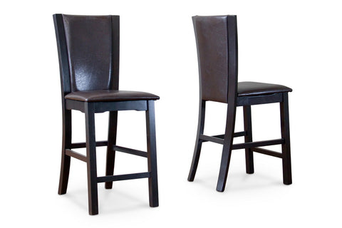 Baxton Studio Wing Counter Stool Set of 2