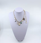 Tiny Charm Necklace Gold Plated Chain With Charms