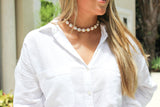 Fresh Water Baroque Pearl Choker With Colorful Beads And Charms