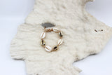 Gold And White Cowry Shell Bracelet