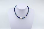 Blue Jean Puka Necklace