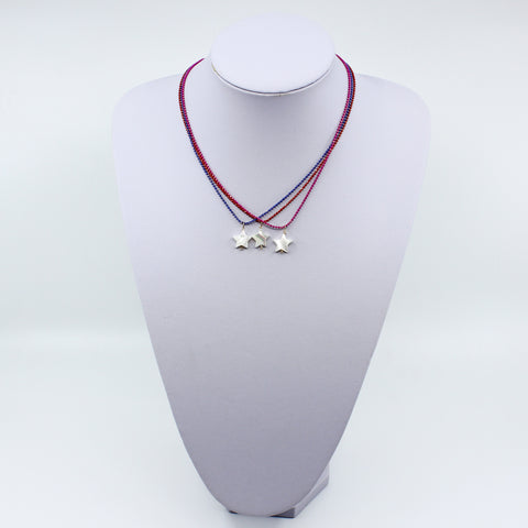 Mother Of Pearl Star Chain Necklace