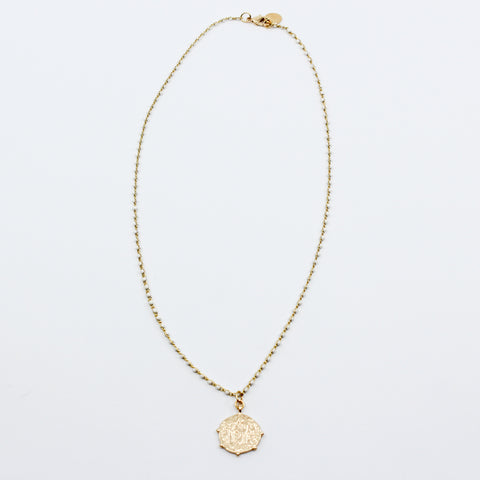 Lily Coin Necklace