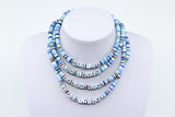 Blue Tie Dye Custom Necklace