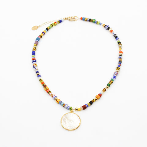 Colorful Saint Benedict Necklace