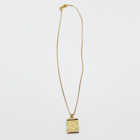 Rectangle Saint Benedict Necklace
