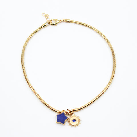 Blue Star Choker