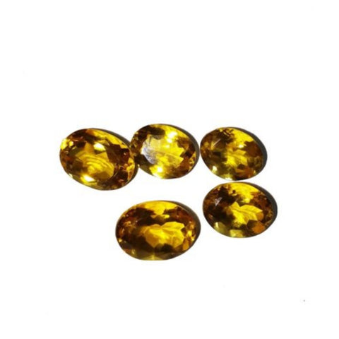 Ajretail 5 Piece 40 Ct Natural Citrine - 1 Mukhi Rudraksha