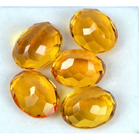 Ajretail 5 Piece 25.25 Ct Natural Citrine - AJRETAIL
