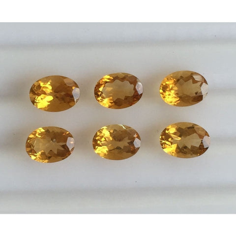 Ajretail 6 Piece 36 Ct Natural Citrine - AJRETAIL