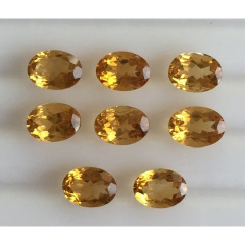 Ajretail 8 Piece 48 Ct Natural Citrine - AJRETAIL