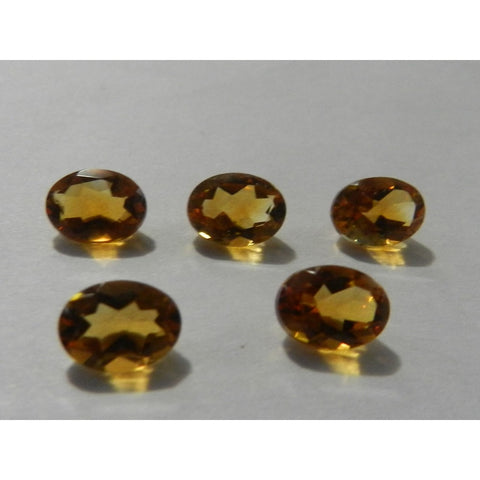 Ajretail 5 Piece 25.50 Ct Natural Citrine - 1 Mukhi Rudraksha