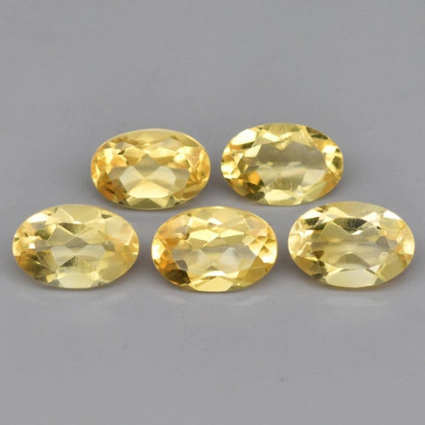 Ajretail 5 Piece 45.75 Ct Natural Citrine - 1 Mukhi Rudraksha