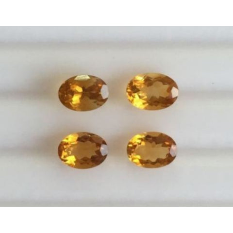 Ajretail 4 Piece 16 Ct Natural Citrine - AJRETAIL