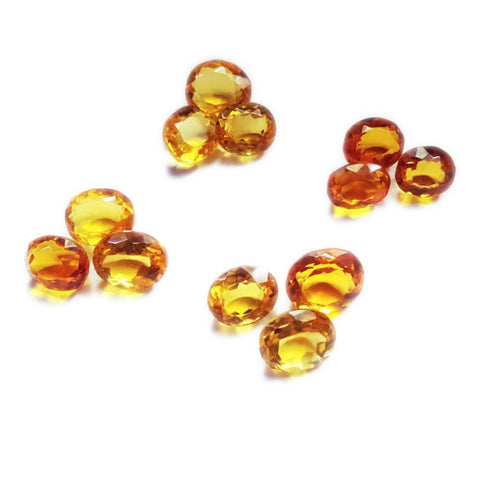 Ajretail 12 Piece 72 Ct Natural Citrine - 1 Mukhi Rudraksha