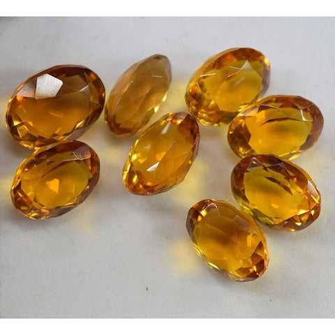 Ajretail 8 Pieces 40.50 Ct Natural Citrine - 1 Mukhi Rudraksha