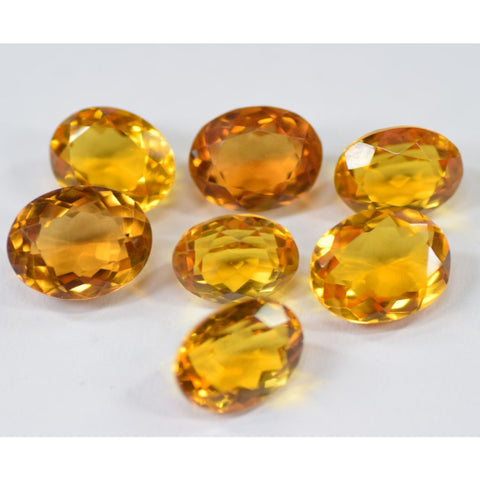 Ajretail 7 Pieces 42 Ct Natural Citrine - 1 Mukhi Rudraksha