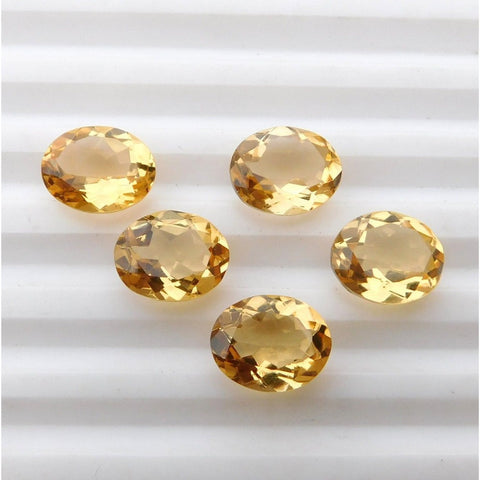 Ajretail 5 Piece 35 Ct Natural Citrine - AJRETAIL