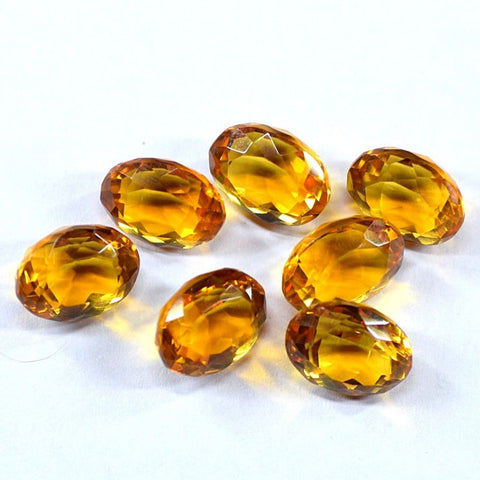 Ajretail 7 Piece 42.25 Ct Natural Citrine - 1 Mukhi Rudraksha