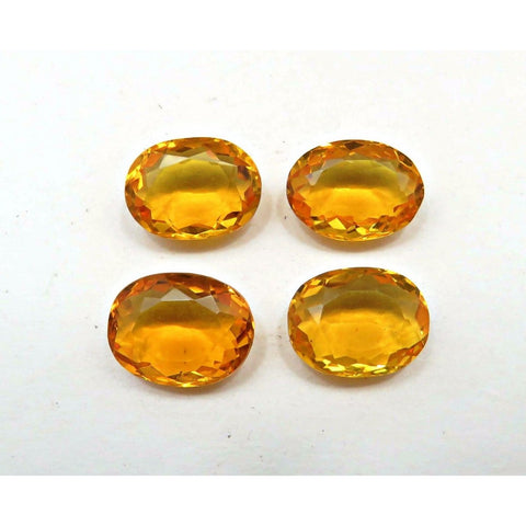 Ajretail 4 Piece 24 Ct Natural Citrine - 1 Mukhi Rudraksha