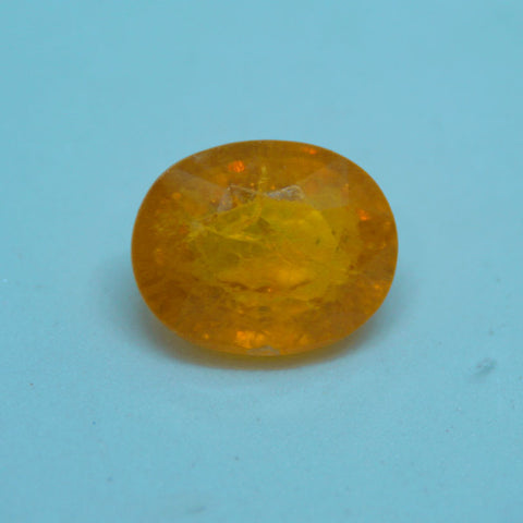 9.250cts Yellow Sapphire stone for astrological purpose GS lab certified - 1 Mukhi Rudraksha