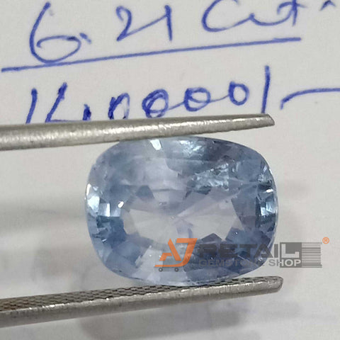 6.21 cts Lab Certified Natural Ceylon Blue Sapphire