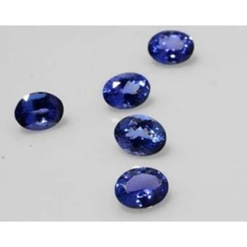 Ajretail 5 Pieces 30 Ct Natural Tanzanite - 1 Mukhi Rudraksha