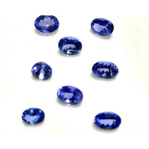 Ajretail 8 Pieces 40 Ct Natural Tanzanite - 1 Mukhi Rudraksha