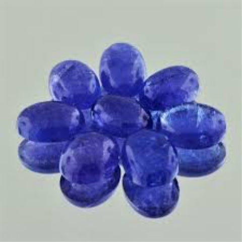 Ajretail 8 Pieces 27 Ct Natural Tanzanite - 1 Mukhi Rudraksha