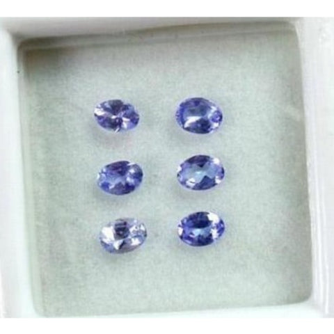 Ajretail 6 Pieces 42 Ct Natural Tanzanite - 1 Mukhi Rudraksha