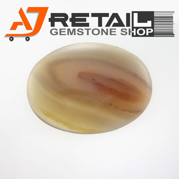 Aj Retail 12.90 Ct Natural Agate Gemstone oval shape Brazil buy online in Kolkata, West Bengal - 1 Mukhi Rudraksha