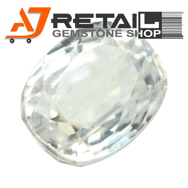Aj Retail 3.08 Ct Natural earth mined best quality white colour zircon buy online in Chennai, Tamil Nadu - 1 Mukhi Rudraksha