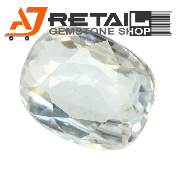 Aj Retail 3.11 Ct Natural earth mined best quality white colour zircon buy online in Kolkata, West Bengal - 1 Mukhi Rudraksha
