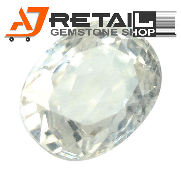 Aj Retail 3.15 Ct Natural earth mined best quality white colour zircon buy online in Chennai, Tamil Nadu - 1 Mukhi Rudraksha