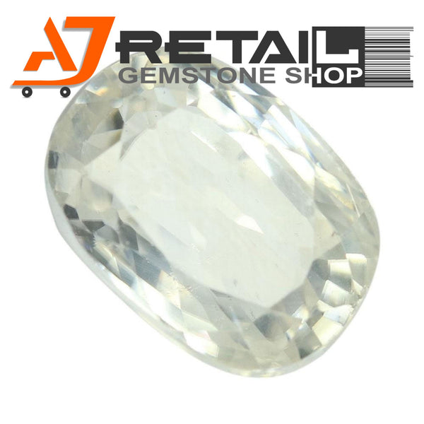 Aj Retail 3.65 Ct Natural earth mined best quality white colour zircon buy online in Kolkata, West Bengal - 1 Mukhi Rudraksha